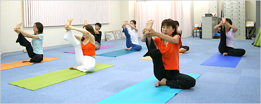 山崎健康ヨガスタジオの風景